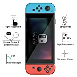 Nintendo Switch Screen Protector, [3 Pack] AnoKe (9H 2.5D) Tempered Glass Film Shield ARMS Games Console Gray Joy Con Accessories Case For Nintendo Switch 3Pack