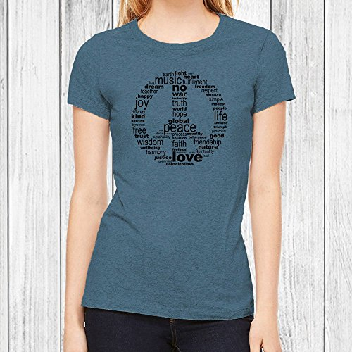 Peace Signs Graphics - Graphic T Shirts for Women - Peace Sign Tshirt, Junior Fit Tee, 6 Colors