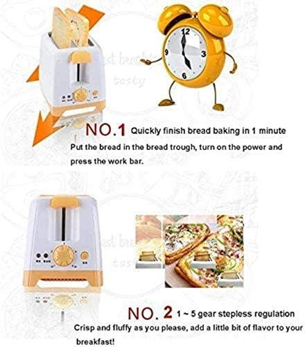 HZWLF Grille-Pain 2 tranches, Grille-Pain Sandwich avec Cache-poussière 3 Modes et 5 Niveaux de dorure pour Faire des sandwichs, des Ensembles de Grille-Pain