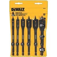 Deals on DEWALT DW1587 6 Bit 3/8-1n to 1-in Spade Drill Bit Assortment