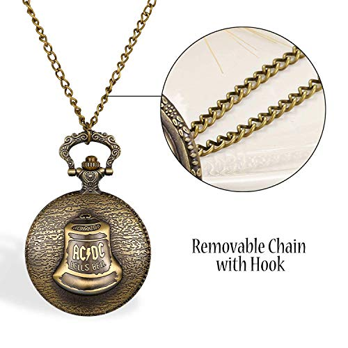 ZJZ fickur män kvinnor fickur ljus klocka mönster kvarts klocka retro klassiskt hänge halsband klockor