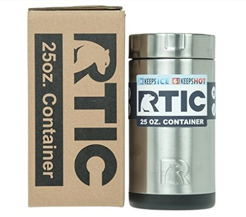 RTIC Insulated Thermal Stainless Steel Food Container Stays Hot for 6 Hours or Cold for 12 Hours (25oz)