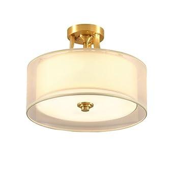 Nclon Lámpara de techo Tela,Downlight Redondo Moderno Simple ...
