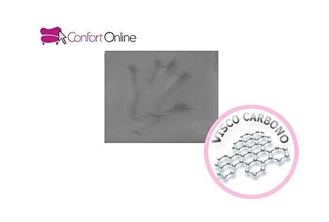 Colchón Viscoelástica VISCOPLUS CONFORT con 4cm de Viscoelástica CARBONO de máxima calidad. (90 x190): Amazon.es: Hogar