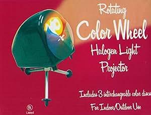 Retro Rotating Aluminum Christmas Tree Color Wheel Halogen Light Projector