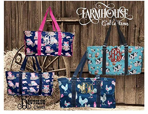 FREE Personalization ~ Farmhouse Collection ~ Cows ~ Rooster ~ Pigs ~ Utility Bag ~ Haul-It-All Basket ~ Shopping Tote ~ Farm Life ~ Animal