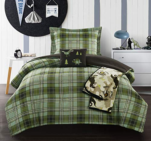 Chic Home Gerver 5 Piece Comforter Set Stitched Patchwork Pl