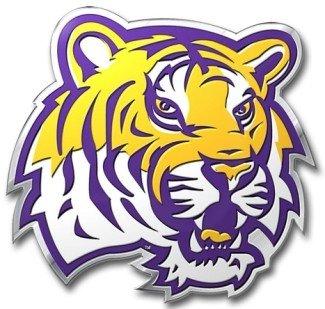LSU Tigers 3D COLOR Chrome Auto Emblem Home Decal Louisiana State University