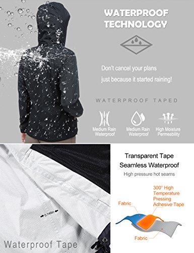Women Hooded Rain Jacket - Diamond Candy Outdoor Lightweight Waterproof Coat by Diamond Candy (Image #1)