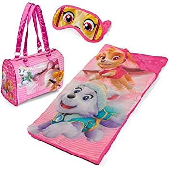 Amazon Com Paw Patrol Girls Sleepover Slumber Set With