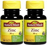 Nature Made Zinc 30 mg Tabs – 30 mg – 100 ct – 2 pk