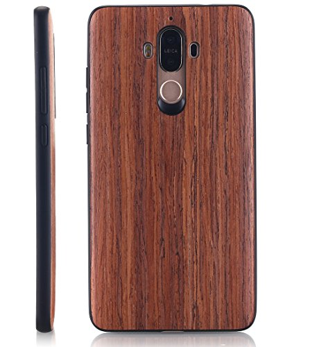 Huawei Mate 9 Case, AICase [Slim Fit] [Non Slip] PC Hybrid [Natural Wood] Protective Wooden Case for Huawei Mate 9 (Rose… 2 Design specifically for Huawei Mate 9 - 5.9 inch- 5.5 inch ( Not fit for Huawei Mate 9 Pro ) Unique & Attractive. AICase phone case is unique based on real wood skin layer, looks better on hand than picture, make your phone more attractive Practical Protector. The case can protect the screen, lens, and bumper edges very well. But we highly Recommend to match this case with a Screen Protector to avoid screen shattered once dropped on uneven floors.