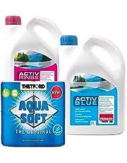 Set Thetford Activ Blue & Aktiv spoeltoilet additief per 2 liter, naar keuze met toiletpapier