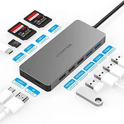 lention USB C Hub con 4K HDMI, lectores de Tarjetas SD/TF, 5 ...