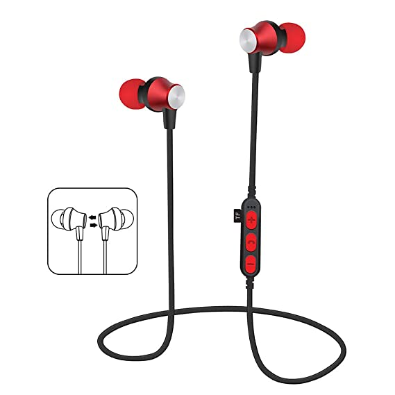 e41c8c2eeb3449 KUAW Wireless Earbuds, 3D Stereo Sound Wireless Headphones Wireless Sport  Earbud with Breathing Mini in
