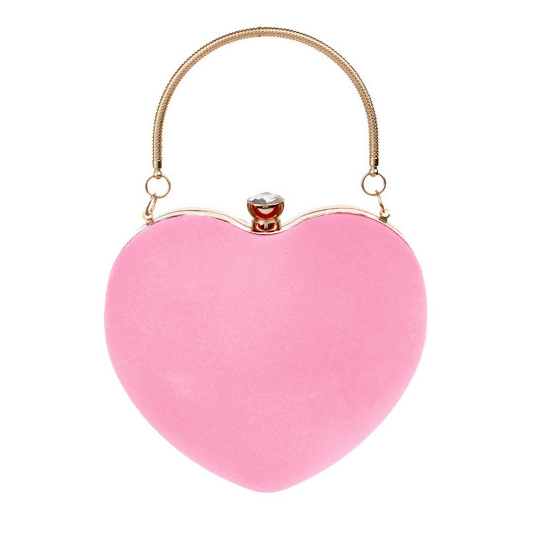 Mily Clutch Bag Messenger Shoulder Handbag Tote Evening Bag Purse Pink