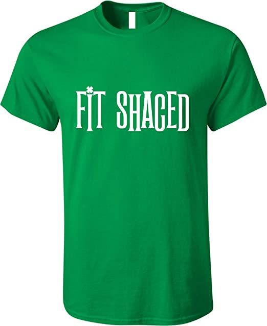 83463fc9b GunShowTees Men's Fit Shaced Funny St. Patrick's Day Beer Drinking Shirt