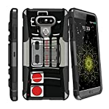 MINITURTLE Case Compatible w/LG G6 | LG G6 Plus (H870) [Horizontal Viewing Stand] [Reinforced Drop Protection] 180-Degree Swivel Clip – Game Controller Retro Review