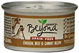 Purina Beyond Natural Canned Cat Food, Grain Free Chicken, Beef and Carrot Recipe, 3-Ounce Can, Pack of 12