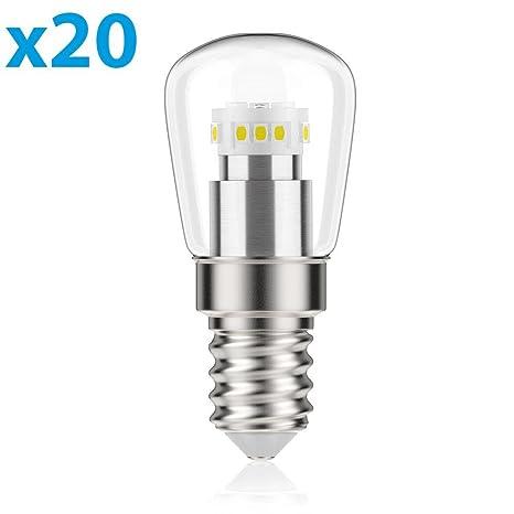Bombilla LED E14, 2 W, equivale a 11 W, 100 Lumens, 4100