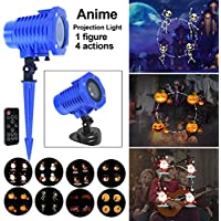 8 Slides Animated LED Projector with Remote Control for Decoration on Christmas Halloween Birthday Party Holiday