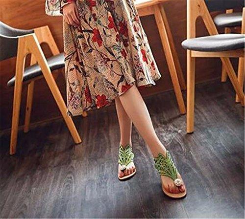 libre verano Señora de fondo con aire plano de zapatillas patin al Amarillo GAOQIANGFENG w8qfq
