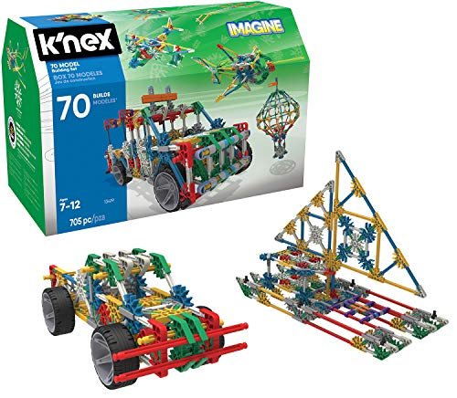 K'NEX 70 Model Building Set - 705 Pieces - Ages 7+ Engineering Education -