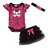 LittleSpring Newborn Girls Clothes Baby Romper Outfit Skirt Set Summer Clothing Skull Size 24M Skull