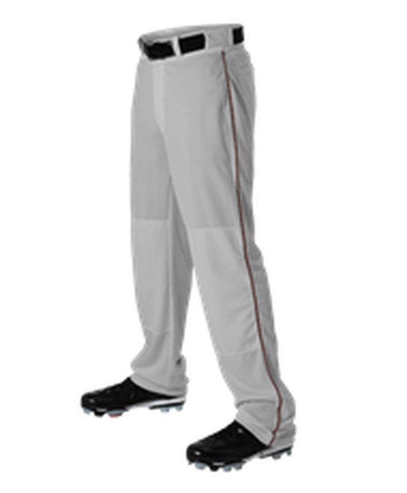 Alleson Athletic PANTS メンズ B071XC9GP3 Large|Grey, Maroon Grey, Maroon Large