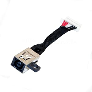 Laptop AC DC Power Jack Plug in Charging Port Socket Connector with Cable Harness for Dell Inspiron 13-7000, 13-7347, 13-7348, 13-7368, 13-7378, 15-7558, 15-7579, P57G, P69G, JDX1R, 0JDX1R