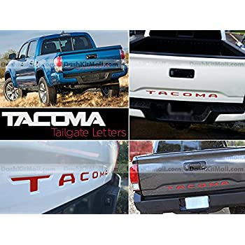 Red Plastic Letters fits 2016-2020 Tacoma Tailgate Inserts Not Decals SF Sales USA