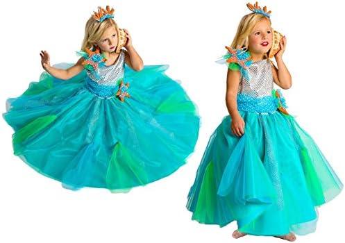 Nines dOnil Disfraz de Princesa del Mar para niñas: Amazon.es ...