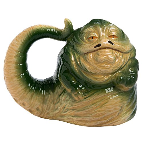 Vandor 55695 Star Wars Jabba the Hutt Shaped Ceramic Soup Coffee Mug Cup, 26 Ounce (Java Bigfoot)
