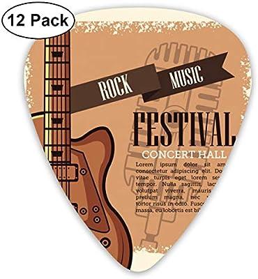 Cavdwa Rock Musica Festival Flyer 12 púas de Guitarra ...