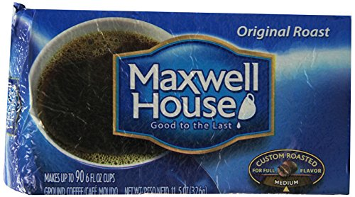 Maxwell House Original Ground Coffee, 11.5 Ounce (Pack of 12) (Maxwell Roasted Coffee)