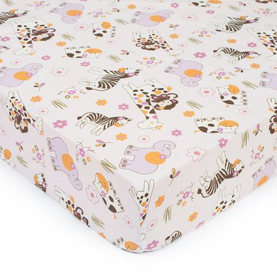 CoCaLo Jacana Fitted Sheet - Pink Allover - Cocalo Pink Baby Blanket