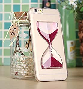 Big Mango Cute Clear Back Case Love Shape Moving Sandglass Cover for Apple Iphone 6 4.7 Inches Phone - Plum by icecream design