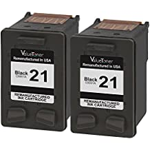 Valuetoner Remanufactured Ink Cartridge Replacement for HP 21 C9508BN C9351AN 2 Black High Yield Compatible for HP OFFICE 4315 1410,DESKJET F4180,F2210,D1420,3915,F380,FAX 3180 1250,PSC 1401 Printer