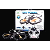 MOLITONG Huge Remote Control Camera Attachable 6 Axis Gyro 360 Degree Quadcopter Aircraft BR6803 Black + 2 Megapixels Camera