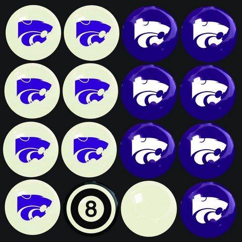 Wildcats Billiard Ball Set - Imperial Officially Licensed NCAA Merchandise: Home vs. Away Billiard/Pool Balls, Complete 16 Ball Set, Kansas State Wildcats