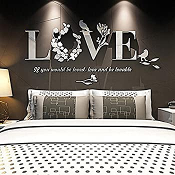 Wall Stickers, LandFox Stylish Removable 3D Leaf LOVE Wall Sticker Art  Vinyl Decals Bedroom Decor Part 75