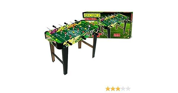 637721 Futbolín de mesa CHAMPIONS FOOTBALL de madera con patas 80 x 42.5 x 63 cm: Amazon.es: Juguetes y juegos