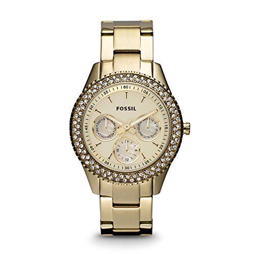 Fossil Women's ES3101 Stainless Steel Analog Gold Dial Watch