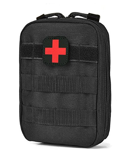 Terrernce MOLLE EMT IFAK Pouch, Tactical Medical First Aid Bag, Compact Utility Emergency Kit ()