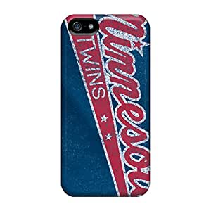 Excellent Hard Phone Covers For Iphone 5/5s (RrO5513GSTQ) Unique Design Beautiful Minnesota Twins Series