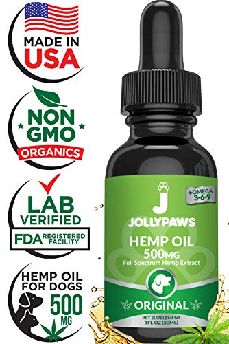 Hemp Oil for Dogs and Cats - Full Spectrum Hemp Extract - All Natural Pain Relief for Dogs, Stress & Anxiety Support, Calming, Hip, and Joint Health - Grown in The USA