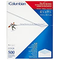 Columbian #10 Security Tinted Envelopes, 4-1/8
