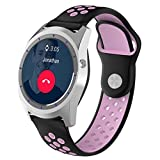 SUKEQ For ZTE Quartz Band, Classic Silicone Sport Replacement Strap Adjustable Quick Release Wristband Accessories For ZTE Quartz Smartwatch (Purple)