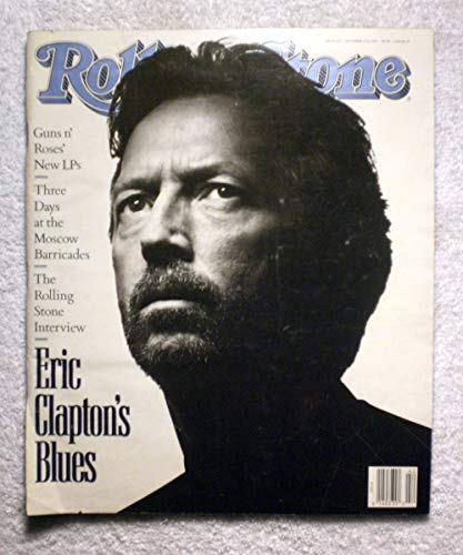 Eric Clapton - The Rolling Stone Interview - Rolling Stone Magazine - #615 - October 17, 1991 - Three Days at The Moscow Barricades - No Address Label!