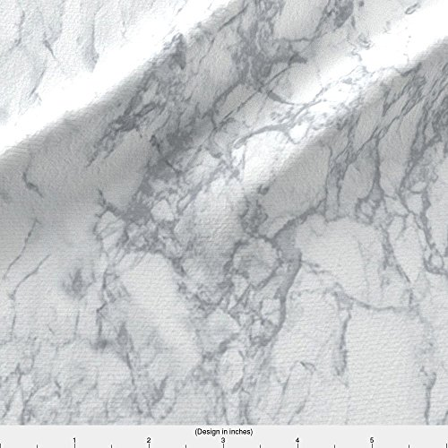 Spoonflower Marble Fabric Marble by Kimsa Printed on Basic Cotton Ultra Fabric by the ()